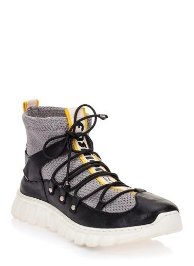 Pier Lucci Hakiki Deri Spor Ayakkabı Siyah